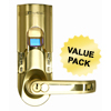 iTouchless Bio-Matic™ Fingerprint Door Lock Gold - Right Handle ITO BM001RCS