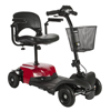 Drive Medical Bobcat X4 Compact Transportable Power Mobility Scooter, 4 Wheel, Red BOBCATX4