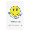 Brown Paper Goods Barnes Paper Company Smiley Face Shopping Bags BPC T16SMILEY