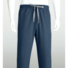 workwear large: Grey's Anatomy - Men's 6-Pocket GA Logo Elastic-Back Scrub Bottoms