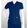 healthcare: Grey's Anatomy - Women's Jr. 3-Pocket Mock-Wrap Scrub Top