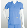 Scrubs-products: Grey's Anatomy - Women's Jr. 3-Pocket Mock-Wrap Scrub Top