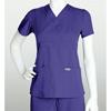 healthcare: Grey's Anatomy - Women's Jr. 3-Pocket Mock-Wrap Scrub Top