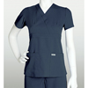 scrub tops: Grey's Anatomy - Women's Jr. 3-Pocket Mock-Wrap Scrub Top