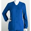 workwear small: Grey's Anatomy - Women's Jr. 4-Pocket Sporty Button Front Scrub Jacket