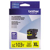 Brother Brother LC103Y, LC-103Y, Innobella High-Yield Ink, 600 Page-Yield, Yellow BRT LC103Y