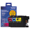 Imaging Supplies and Accessories: Brother LC1053PKS, LC-105, Innobella Super High-Yld Ink, 1200 Pg-Yld, CMY, 3/Pk