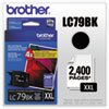 Brother Brother LC79BK (LC-79BK) Innobella Super High-Yield Ink, 2,400 Page-Yield, Black BRT LC79BK