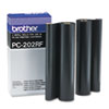 Brother Brother PC202RF Thermal Transfer Refill Rolls, Black, 2/Pack BRT PC202RF