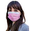 Detoxiz 3-ply Ear Loop Disposable Pink Masks - 300 Masks BSC 314075