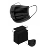 Detoxiz 3-ply Ear Loop Disposable Black Masks - 150 Masks BSC 747221