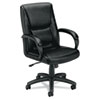 leatherchairs: basyx™ VL161 Executive Mid-Back Chair