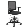 meshchairs: basyx® VL515 Mid-Back Mesh Task Stool with Fixed Arms