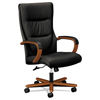 HON basyx® VL844 Leather High-Back Chair BSX VL844HSB11