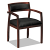 HON basyx® VL850 Series Leather Guest Chair BSX VL852NSB11