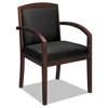 HON basyx® VL850 Series Leather Guest Chair BSX VL853NSB11