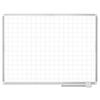 Bi-Silque MasterVision® Grid Platinum Plus Magnetic Porcelain Dry Erase Board BVC CR0895830
