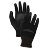 hand protection: Boardwalk® Black PU Palm Coated Gloves