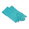 gloves: Flock-Lined Nitrile Gloves - X Large