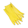 Gloves Latex: Flock-Lined Latex Cleaning Gloves - Large