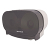 bathroom tissue, bathroom tissue dispensers: Boardwalk® Twin STD Toilet Tissue Dispenser