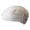 hair nets and beard nets: Boardwalk® Disposable White Bouffant Caps
