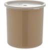 Poly-Tuf Crock w/Lid 2.7 qt - Beige