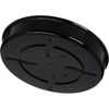 "Carlisle Tortilla Server w/Lid 7-1/4"" / 1-15/16"" - Black CFS047503CS"