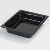 Carlisle Poly Food Pan One-Half Size 12.75 x 10.38 x 2.5 (3.6 qt)-Black CFS 10220B03CS