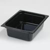 Carlisle Poly Food Pan One-Half Size 12.75 x 10.38 x 4 (5.6 qt)-Black CFS 10221B03CS