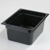 Carlisle Poly Food Pan One-Half Size 12.75 x 10.38 x 6 (8.7 qt)-Black CFS 10222B03CS