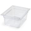 Carlisle Poly Food Pan One-Half Size 12.75 x 10.38 x 6 (8.7 qt)-Clear CFS 10222B07CS