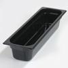 Carlisle Poly Food Pan One-Half Long Size 20.75 x 6.25 x 4 (5.1 qt)-Black CFS 10241B03CS