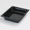 Carlisle High Heat Pan One-Half Size 12.75 x 10.38 x 2.5 (3.6 qt)-Black CFS 10420B03CS