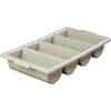 "Carlisle Save-All Silverware Tray 21.25"" x 11.5"" x 3.75"" - Gray CFS 107123CS"