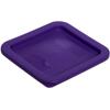 Carlisle StorPlus Square Container Lid 2-4 qt - Purple CFS 1074089CS