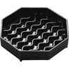 "Carlisle NeWave Octagon Drip Tray 4"" - Black CFS1103003CS"