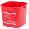 Carlisle 6 qt Square Steri-Pail - Red CFS 1182905CS