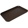 "Carlisle Griptite 2 Rectangle Tray 22"" x 16"" - Brown CFS 2216GR2Q076CS"