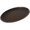 "Carlisle Griptite 2 Oval Tray 24"" x 19"" - Brown CFS 2500GR2076CS"