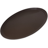 "Carlisle Griptite 2 Oval Tray 31"" x 24"" - Brown CFS 3100GR2076CS"
