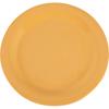 "Carlisle Sierrus Melamine Narrow Rim Dinner Plate 10.5"" - Honey Yellow CFS 3300222CS"