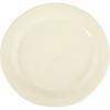 "Carlisle Sierrus Melamine Narrow Rim Dinner Plate 10.5"" - Bone CFS 3300242CS"