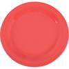 "Carlisle Sierrus Melamine Narrow Rim Dinner Plate 10.5"" - Sunset Orange CFS 3300252CS"