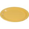 "Carlisle Sierrus Melamine Narrow Rim Dinner Plate 9"" - Honey Yellow CFS 3300422CS"