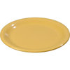 "Carlisle Sierrus Melamine Narrow Rim Salad Plate 7.25"" - Honey Yellow CFS 3300622CS"