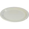 """Carlisle Sierrus Melamine Narrow Rim Salad Plate 7.25"""" - Bone CFS 3300642CS"""