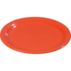 "Carlisle Sierrus Melamine Narrow Rim Salad Plate 7.25"" - Sunset Orange CFS 3300652CS"