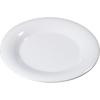 "Carlisle Sierrus Melamine Wide Rim Dinner Plate 10.5"" - White CFS 3301002CS"