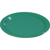 "Carlisle Sierrus Melamine Wide Rim Dinner Plate 10.5"" - Meadow Green CFS 3301009CS"